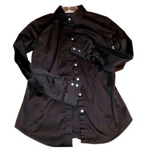 Black BR button down